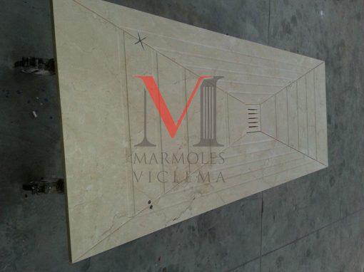 PLATO DUCHA en Marmol Crema envejecido – Marmoles Viclema Málaga