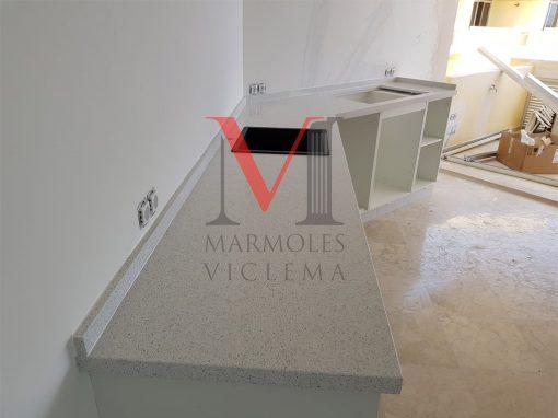 Encimera Blanco Sellar – Marmoles Viclema Málaga